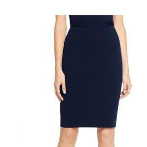 ST JOHN Navy Elastic Waist Knit Skirt Sz 6